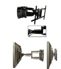 Articulating Wall Arm Mount For 37  - 63  Screens  - Black