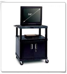 Video Carts With  Security Cabinets