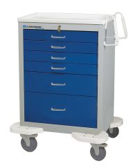 Classic 6-Drawer Anesthisa Carts with Push Button Lock