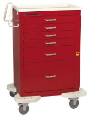 Classic 6-Drawer Anesthesia Carts with Breakaway Lock bigger drawer space