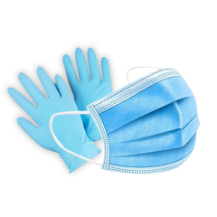 DR Instruments Disposable Face Mask and Nitrile Gloves - 5 Pack - Protective Kit