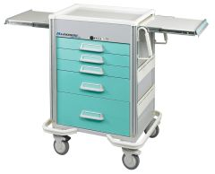 Elite 5-Drawer Anesthesia Cart with Push Button Lock